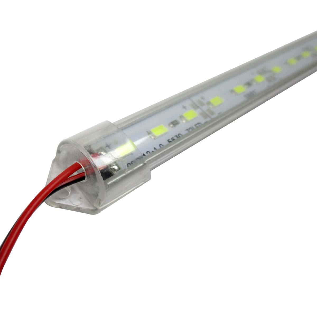 LED Lichtband Stripe 1m 12V Aluschiene Abdeckung Unterbau Leuchte Küche Licht