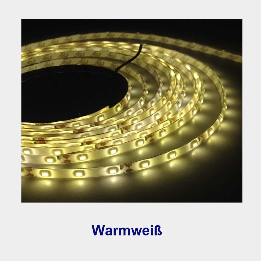 led stripe streifen 2835 warmwei wei 5m 300leds 12v. Black Bedroom Furniture Sets. Home Design Ideas