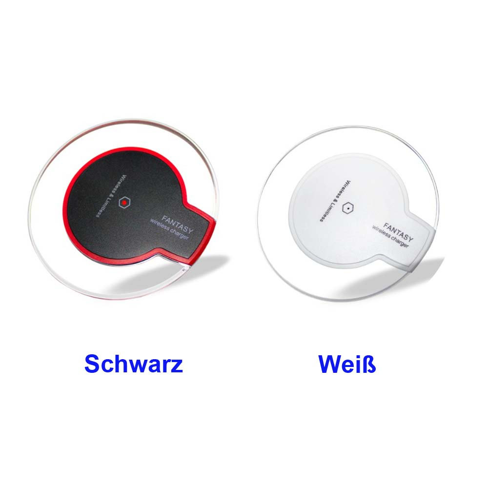 f r iphone x 8 induktive ladestation wireless qi charger. Black Bedroom Furniture Sets. Home Design Ideas